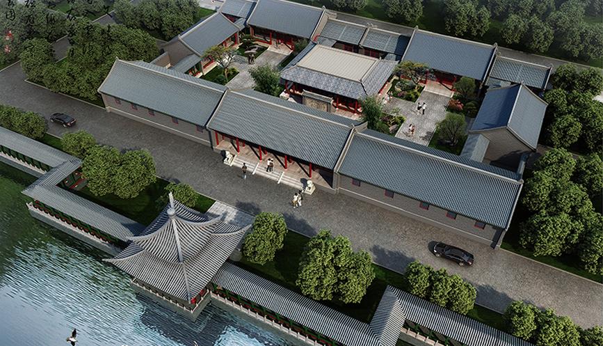北京四合院装修设计效果图-四合院别墅建筑设计平面